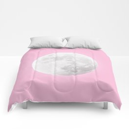 WHITE MOON + PINK SKY Comforters