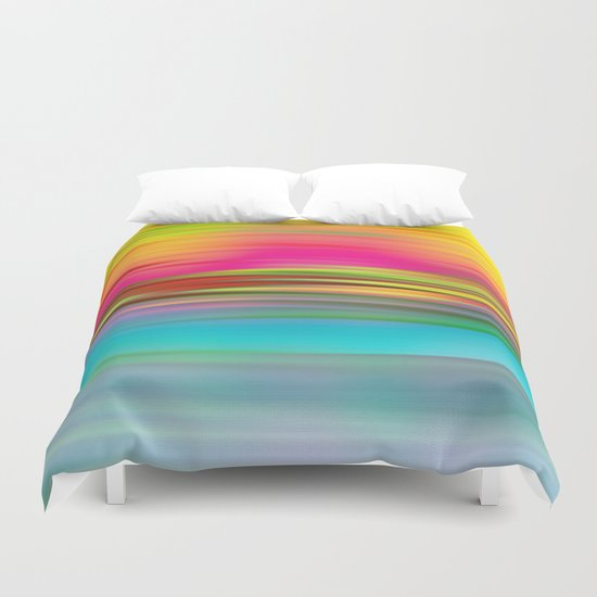 Abstract Sunrise Duvet Cover