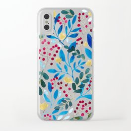 Fall Flavors Clear iPhone Case