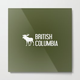 British Columbia Moose Metal Print