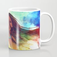 painting Mugs featuring The Wind... by Alice X. Zhang