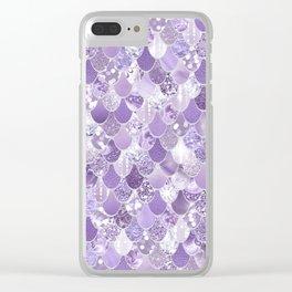 Mermaid Treasure, Purple Jewels Clear iPhone Case