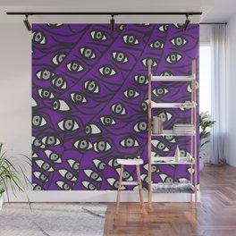 Freddie Eyeballs Ultraviolet Blue Purple Wall Mural