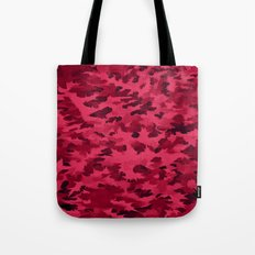 Foliage Abstract Pop Art Blush Red Tote Bag