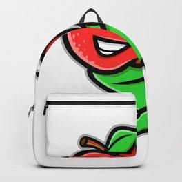 Apple Baseball Mascot Backpack