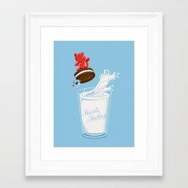 Sweets Surfing Framed Art Print