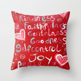 Fruit of the spirt Throw Pillow
