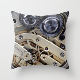 Clockwork mechanism  Throw Pillow