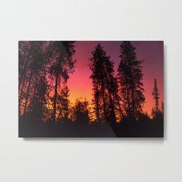 A Colorful Idaho Sunset Metal Print