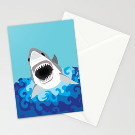 Great White Shark Attack Stationery Cards