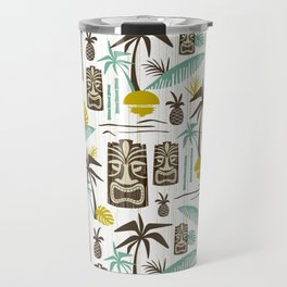 Island Tiki - White Travel Mug