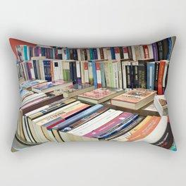 Sale of books on flea market Rectangular Pillow