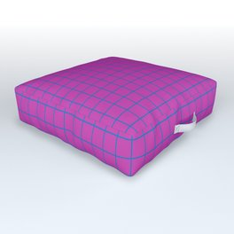 Grid Pattern - magenta and teal - more colors Outdoor Floor Cushion