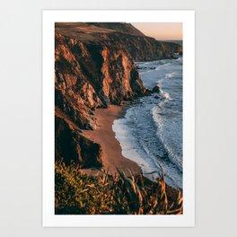 Sunset over Big Sur, California Art Print