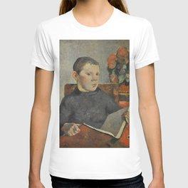 """Paul Gauguin - Clovis, portrait of the artist's son """"Le Liseur"""" (1886) T-shirt"""