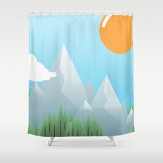 Eat the World Shower Curtain
