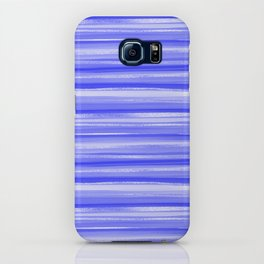 Girly Artsy Ocean Blue Abstract Stripes iPhone Case