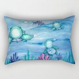 Bitty Sea Turtles Rectangular Pillow