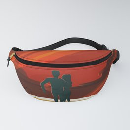 Vintage Adventure Travel Phobos and Deimos Fanny Pack
