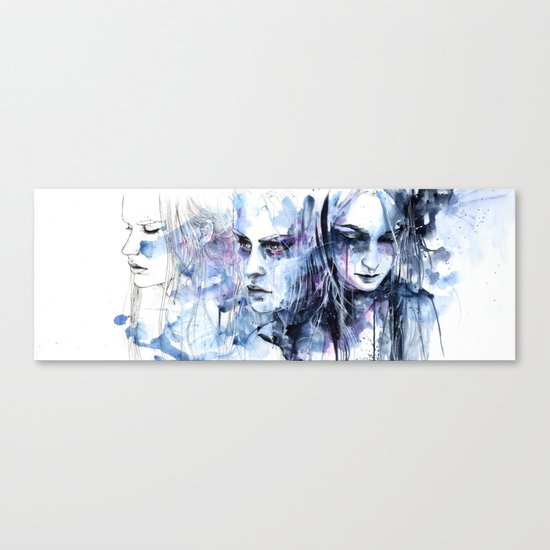 waves - to and fro Canvas Print