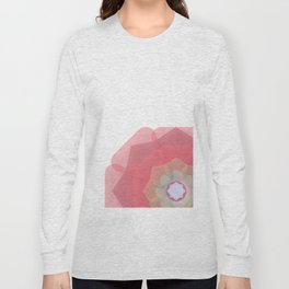 Pink Floral Meditation Long Sleeve T-shirt