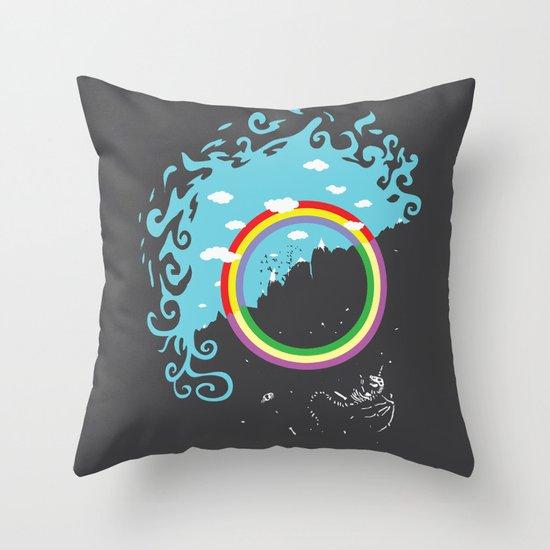 somewhere under the rainbow Throw Pillow
