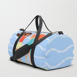 Series: Oil Paint Smears. Summer, sea, friendship. Duffle Bag