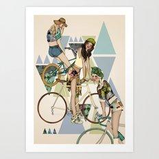 Bike Girls Art Print