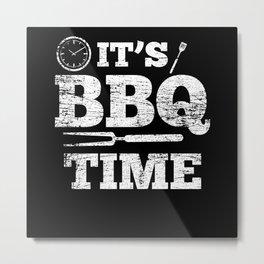 BBQ Time Metal Print