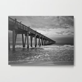 Stormy Sunrise over Pensacola Beach Metal Print