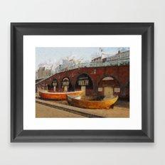 Brighton Boats Framed Art Print
