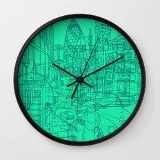 London! Mint Wall Clock