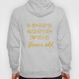15 Years Old Algebra Equation Funny 15th Birthday Math Hoody