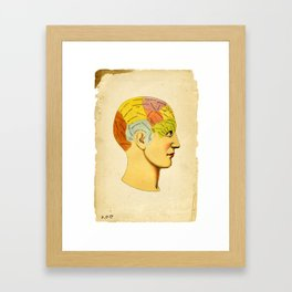 Phrenology Knowledge Within Framed Art Print