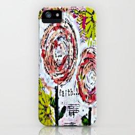 Mixed Media Art: Faith iPhone Case