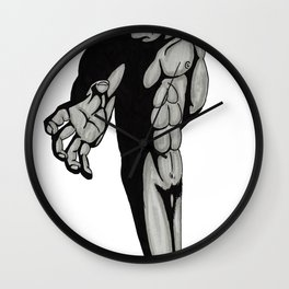 As The Giant Reaches full drawning Wall Clock