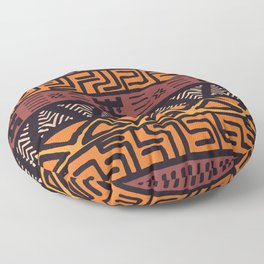 Tribal ethnic geometric pattern 021 Floor Pillow