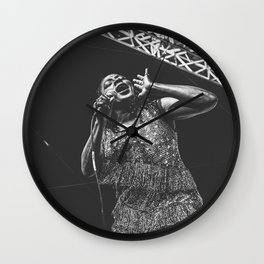 Sharon Jones Live B&W Wall Clock
