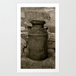 Old Milk Can Art Print