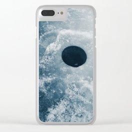 Ice Fishing Hole on Frozen Lake Clear iPhone Case