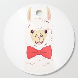 Cute Llama with bow-tie. Print for fabric, t-shirt, poster Cutting Board