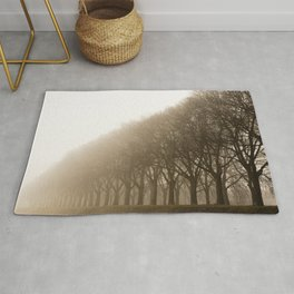 Tree in the fog Rug