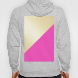 Modern hot pink & gold color block Hoody