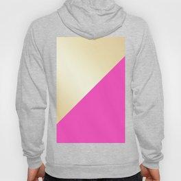 Modern hot pink & gold color block Hoody