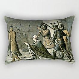 Murder of Thomas Becket Rectangular Pillow