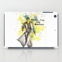 david tennant iPad Cases featuring Doctor Who 10th Doctor David Tennant by idillard