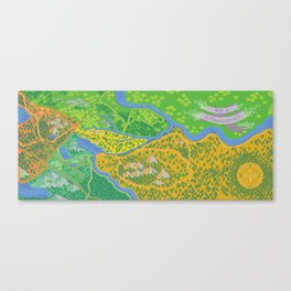 Map of Applewood Canvas Print