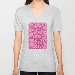 Leopard - Lilac and Pink Unisex V-Neck