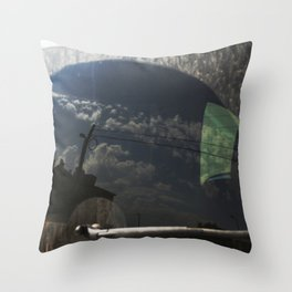 City Reflection on Glass Throw Pillow