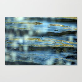 Water Surface Texture 2 blue and gold Canvas Print